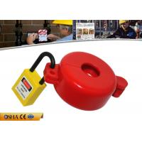 Quality ABS Material Red Gas Cylinder Tank Lock Out  Use for Valve Stem Hole 32MM for sale