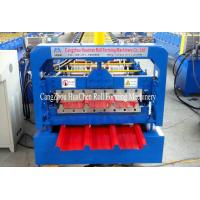 Quality 0.15-0.4mm Steel Roofing Sheet Roll Forming Machine , Auto Sheet Metal Rolling Equipment for sale