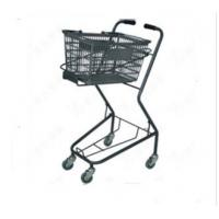 Quality Shopping Basket Trolley Retail Grocery Store Baskets On Wheels 565×490×930 mm for sale