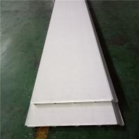 Quality waterproof ivory white eps sandwich roof panel 840-30-0.426mm wih 0.5mm PVC down for sale