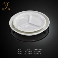 China Melamine Snack plate Snack dish and LOGO plastic circular snack plate tray Melamine dish on sale