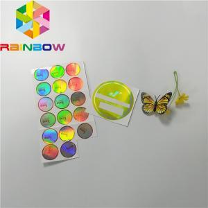 China Adhesive Shrink Sleeve Printing Custom Reflection Rainbow Holographic Stickers Label on sale