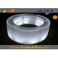 Remote control LED round bar counter / LED wine display table