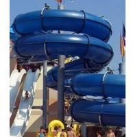 China Fiber glass spiral water slide with different color for water park on sale