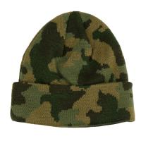 Quality Custom Made Camouflage Knit Beanie Hats For Guys 56-60cm Size Breathable for sale
