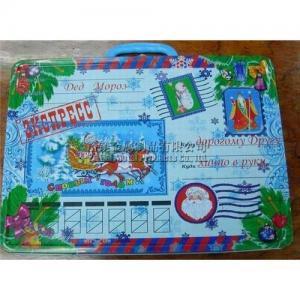 Quality Christmas gift tin box with handle for sale