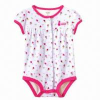 Quality Baby Rompers, Wholesale, Low-MOQ, Years of Production Experience, Available in Pink Color for sale