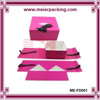 China Paper Foldable Underwear Box with Magnetic Closure (Paper Box with Ribbon) ME-FD001 on sale