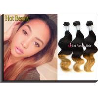 Quality Body Wave Colored Human Hair Extensions , Soft Original 5A Peruvian Hair for sale