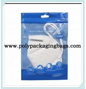 China Custom Gravure Printing Resealable KN95 Plastic Ziplock Bags on sale