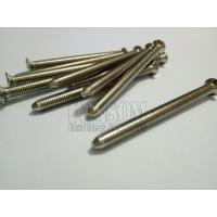 Countersunk phillips machine screws pointed tail special screws nickel finish 12.9 grade OEM