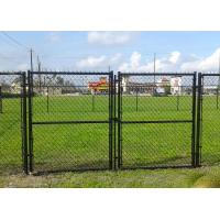 China School Timber Garden Gates Black PVC Coated , Commercial Garden Mesh Fencing on sale