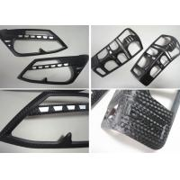 Quality 3D Carbon Fiber Head Lamp and Tail Lamp Bezels For ISUZU D-MAX 2012 2014 for sale
