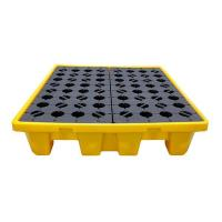 Quality High Strength HDPE 4 Drum Spill Containment Pallet Excellent Chemical Compatibility for sale
