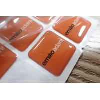 China Custom Epoxy Resin Clear Crystal Dome Sticker / 3D Printing Epoxy Resin Label on sale