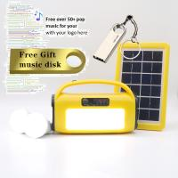 Quality 3W 8ah Home Solar Lighting System Solar Power System with MP3 Player, LED Light, BlueTooth Speaker, FM for sale