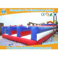 China Kids Inflatable Sport Games , Bungee Run Inflatable Rental 3 Lanes Bouncer Games on sale