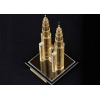 Quality Famous Building Crystal Decoration Crafts , Malaysia Twin Tower Tourism Souvenirs for sale