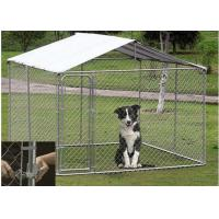 Quality OEM / ODM Accepted Metal Dog Kennel With Canopy Top Lock Design High Security for sale