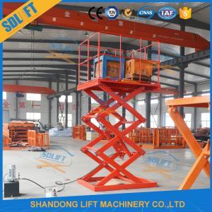 Quality Safe 1.5T 3.5M Stationary Hydraulic Scissor Lift Hydraulic Warehouse Scissor Lift for sale