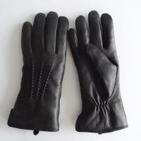 Quality high quality winter warm deer leather shearling gloves for women for sale