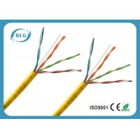 Long White Cat5e Ethernet Cable / Solid 4 Pairs Copper Internet Cable Wire