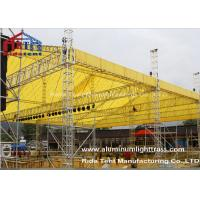 Quality LED Screen Aluminum Stage Truss , Portable Stage Lighting Truss 15 X 25m Size for sale