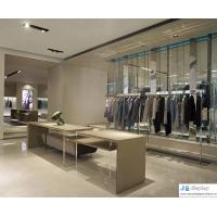 China Pure fashion space atmosphere women's clothing store by art leisurely fashion display wardrobe and curved counters on sale