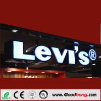 Quality led lighting waterproof led advertising outdoor 3d hanging sign board for sale