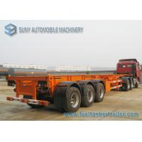 China Custom Q235 / Q345 40 Foot Flatbed Semi Trailer 50 Ton For Transportation on sale