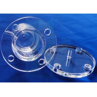 China Customized High - Temperature Resistant High - Quality Transparent Quartz Tube Flange on sale