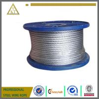 China 7x7 4mm steel wire rope galvanised steel cable wire cable on sale