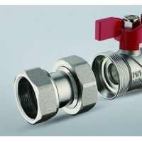 Quality DN20 DN25 Nickel Plated Brass Ball Valve Built In Strainer for sale