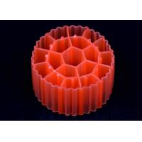 Quality Red / Yellow Plastic MBBR Bio Media K1 500 m2/m3 Surface Area With White Color for sale