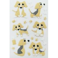 China Puppy Dog Puffy Animal Stickers For Home Wall Decor Custom Printed Removable on sale