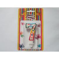 Buy cheap Celebration Figure 7 Birthday Number Candles / Paraffin Numerical Birthday Candles SGS Approved from Wholesalers