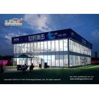 Buy cheap 600sqm Thermo Roof Outdoor Exhibiiton Tents With Glass Walls Tear Resistant from wholesalers