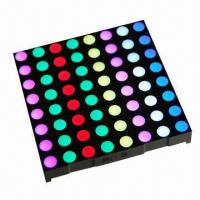 Quality 2.3 Inches 8 x 8 RGB Dot-matrix LED Display/Outdoor LED Dot Matrix Module/Outdoor LED Display for sale