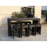 Quality Resin Wicker Bar Set With Power Coated Aluminum Or Steel Frame for sale