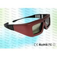 Quality Cinema IR Active shutter adult 3D glasses GT100, red iron color for sale