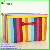 Quality Canvas Bright Rainbow color  large storage box for sale