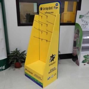 China OEM ISO9001Cartridge cardboard POP Displays Stand with hooks on sale