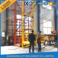 Quality 700kgs 4m Warehouse Elevator Lift Vertical Guide Rail Lift Vertical Cargo Lift Elevator CE TUV for sale