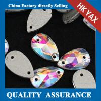 Quality China Supplier glue on crystal buttons,Teardrop Shaped glue-on crystals button,CrystalAB non hotfix stones for sale
