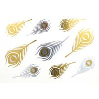 Quality Gold and silver foil metallic jewelry tattoo, quick delivery, good quality for sale