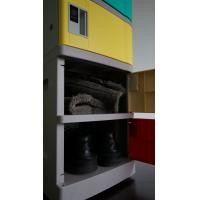 Buy Corrosion Proof ABS Plastic Lockers Red Door 5 Tier Lockers With Clover Keyless Lock at wholesale prices