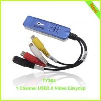 Quality TY305: elegant blue 1ch usb2.0 video capture card for sale