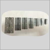 China Bright Unpolished Heavy Duty Garden Gate Hinges , Ms Cabinet Door Hinges High Security on sale