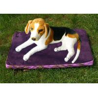 Quality Polyester Rectangle Pet Cushion Purple Waterproof Dog Bed Suede 1.3KG for sale