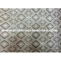 Quality Patterned Embroidered Net Lace Diamond Shaped / Geometric 100 Cotton Lace Fabric for sale